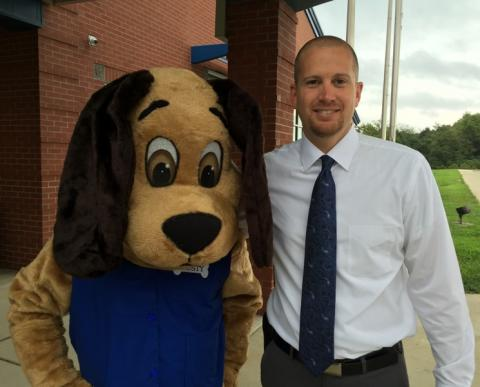 Trusty with Josh Belcher, NBES Principal