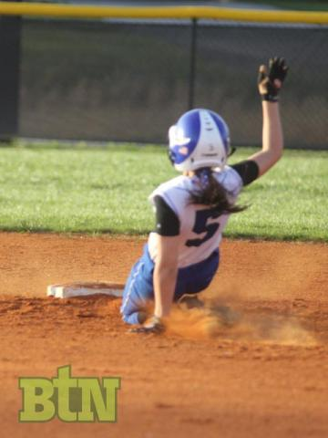 Naomi Cade slides safely into second
