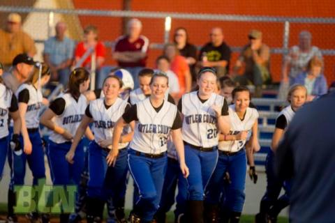 The celebration at home after a Natoshia White home run