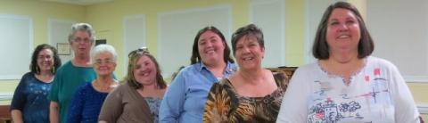 Sheila Hunt, Peggy Boaz, Joyce Creager, Sarah Duncan, Melanie Hunt,Debra Duncan, and Elaine Daugherty