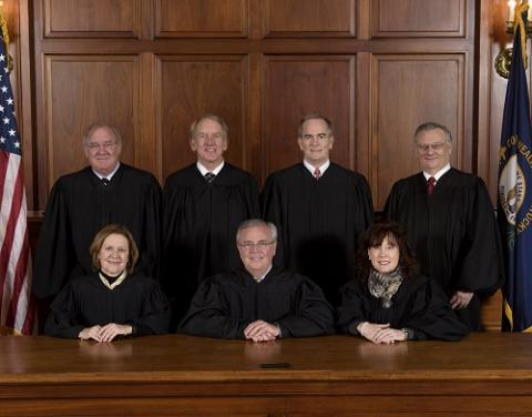 Kentucky Supreme Court:  Chief Justice John D. Minton, Bill Cunningham, Daniel J. Venters, Lisabeth T. Hughes, Laurance B. VanMeter, Michelle M. Keller, and Samuel T. Wright III.
