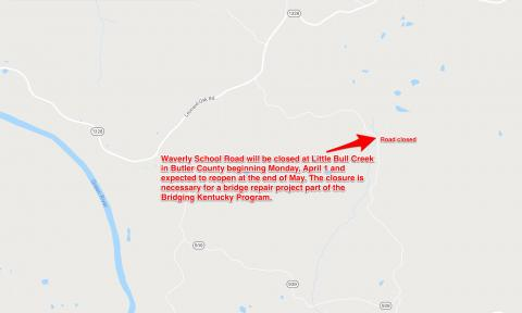 A Section Waverly School Road Set for Long-Term Closure for