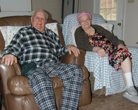 Married 73 years are William Dave Bryant and wife Lillious