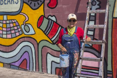 Andee Rudloff is a Bowling Green artist working primarily in murals. Photos and story by Hannah Vanover