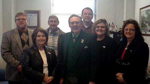 Mayor Keown  and the council visits C.B. Embry in Frankfort.