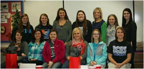 Front Row (Left to Right) Katrina Sims, Cassie Bratcher, Caitlyn Ford, Toshia White, Ashley Holland, Brittany Bingham Back Row (Left to Right): Tanna Belcher, Laura Baseheart, Ashlenn White, Whitley Grubb, McKenzey Smith, Brittany Jones and Instructor Jenny Joiner, RN