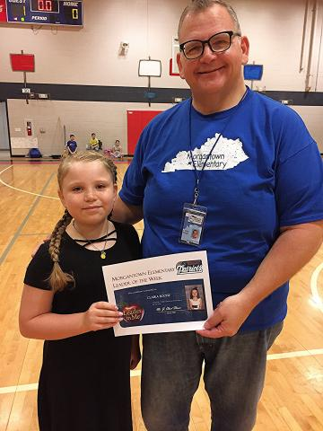 Overall Classroom Leader of the Week Claira Boone