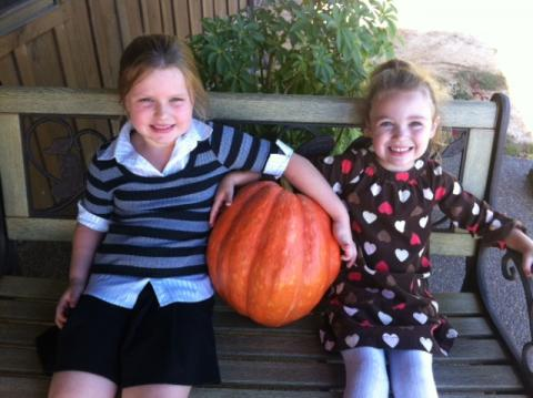 Granddaughters Morgan and Sophie