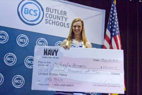 Mikayla Brown was awarded a $100,000 Navy NJROTC Scholarship to Ole Miss.