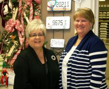 Butler County Clerk Shirley Givens (left) and incoming County Clerk Sherry Johnson.