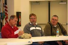 Councilmen Gary Southerland, Terrell House and Allen Meredith.