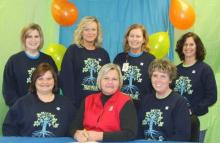 Elaine Phelps with Circuit Clerk Melissa Cardwell and staff.