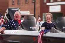 Dale Flener, last BIG winner in the fishing tournament and wife Linda.