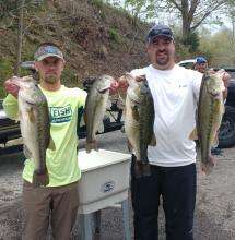 Nathan Neighbors and Daniel Cardwell took 1st place with 20.71 lbs