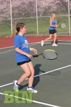 The doubles team of Emily Wallace and Sierra Fields