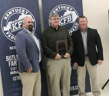 Butler County Farm Bureau's Outstanding Service to Agriculture was presented to  Lloyd Saylor