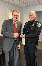 County Attorney Dick Deye and Chief Giles Taylor, MPD