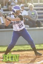Madeline Drake at the plate