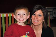 Tiffany Hampton and son Tucker