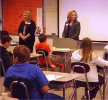Mrs. Andrea Hunt and Mrs. Amanda Neighbors taught various banking topics to the students.