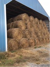 The Stockman's association forage contest recognizes farmers for putting up exceptional forage for their livestock.  Pictured here is hay from the 2017 contest.  Photo by Greg Drake II