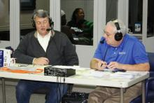 Commonwealth Attorney Tim Coleman and Tom Jones, president MB&T, on the airwaves.