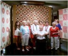 L to R: Gladys Brooks Lydia Bratcher, Jane Eaton-Henderson, Maxine Minton. Jennifer Odle, Georgia Laverne Romans, Lynda Knight, Lois Russ and center June McGuyer