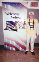 Jack at the Honor Flight Tri-State Welcome Veterans Center