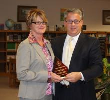 District Assessment Coordinator Vickie Cook and Scott Howard, BC Superintendent