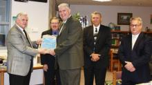 MES Principal Greg Woodcock accepts the Energy Star Award